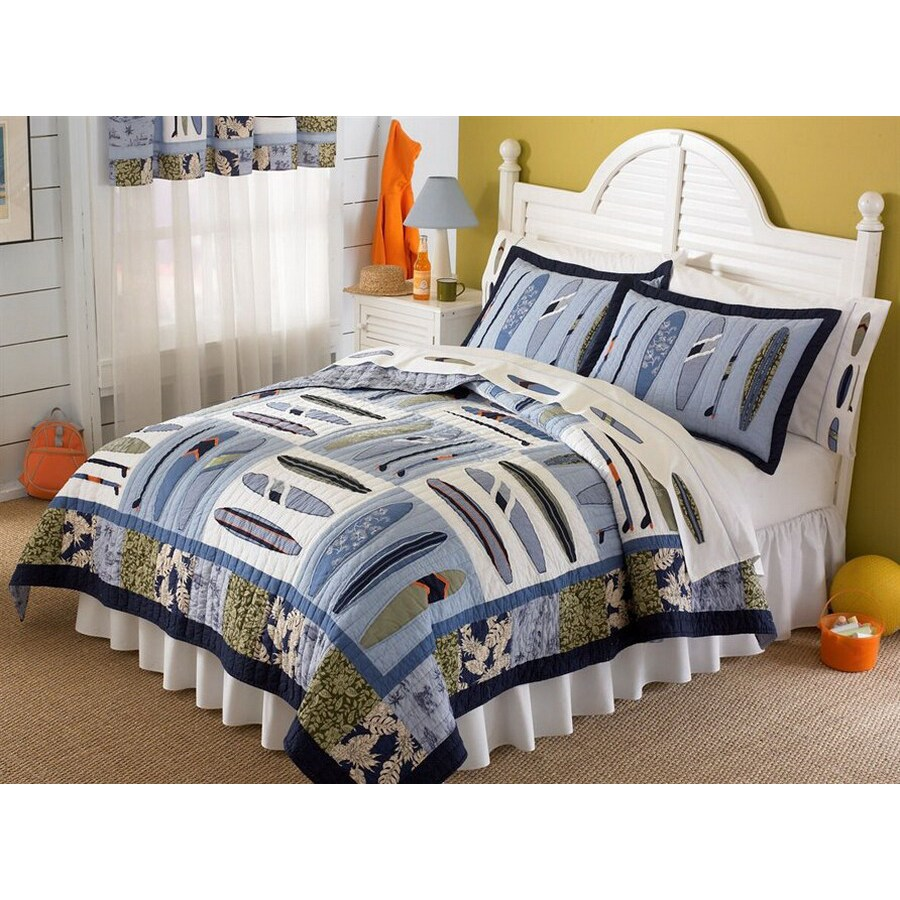 My World Catch A Wave 3-Piece Multicolor Full/Queen Quilt Set