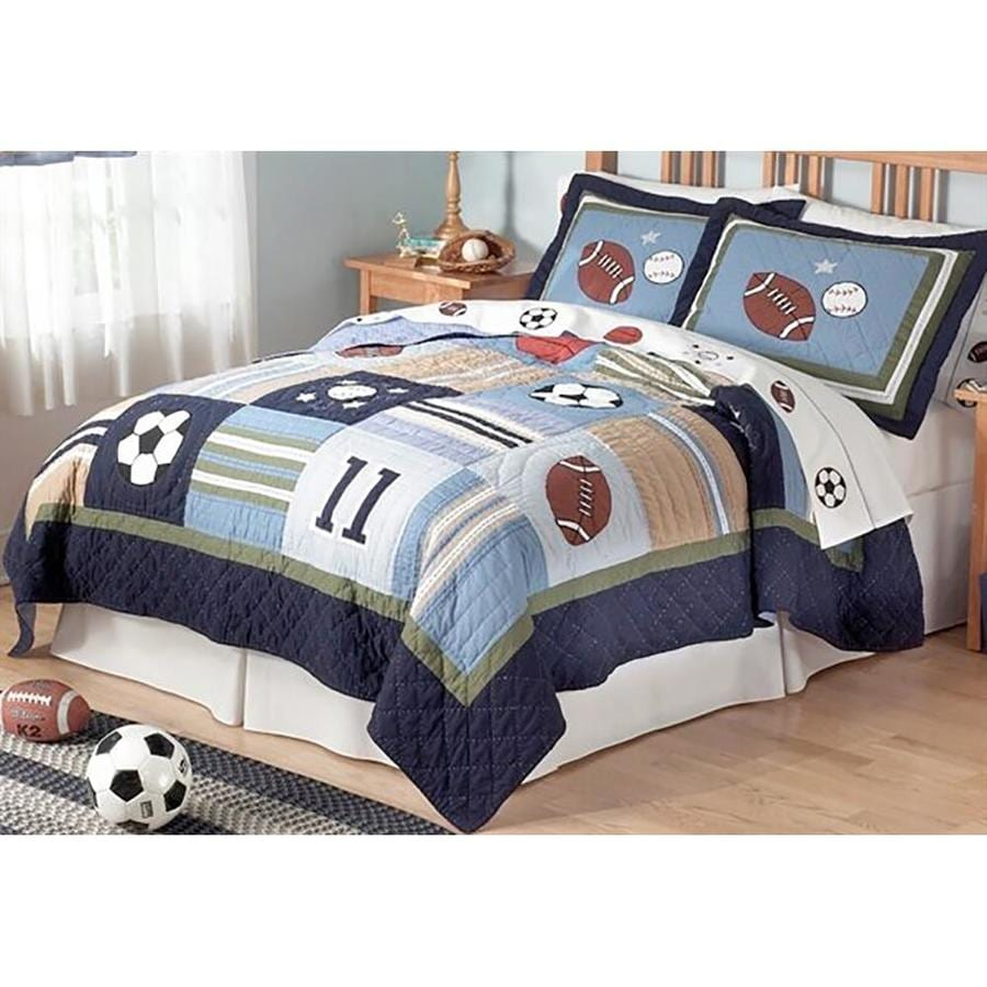 My World All State 3-Piece Multicolor Full/Queen Quilt Set