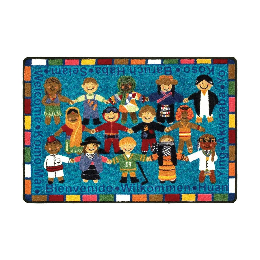 Joy Carpets Multicolor Rectangular Door Mat (Actual: 33-in x 23-in)