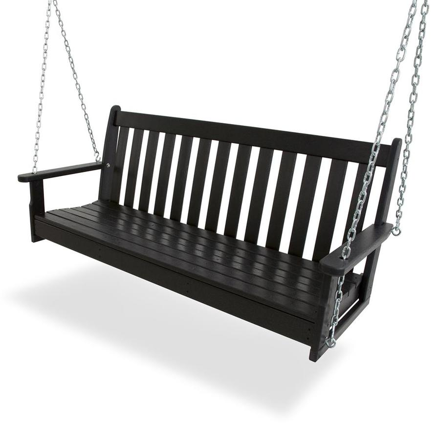 Polywood Vineyard Black Porch Swing At Lowes Com
