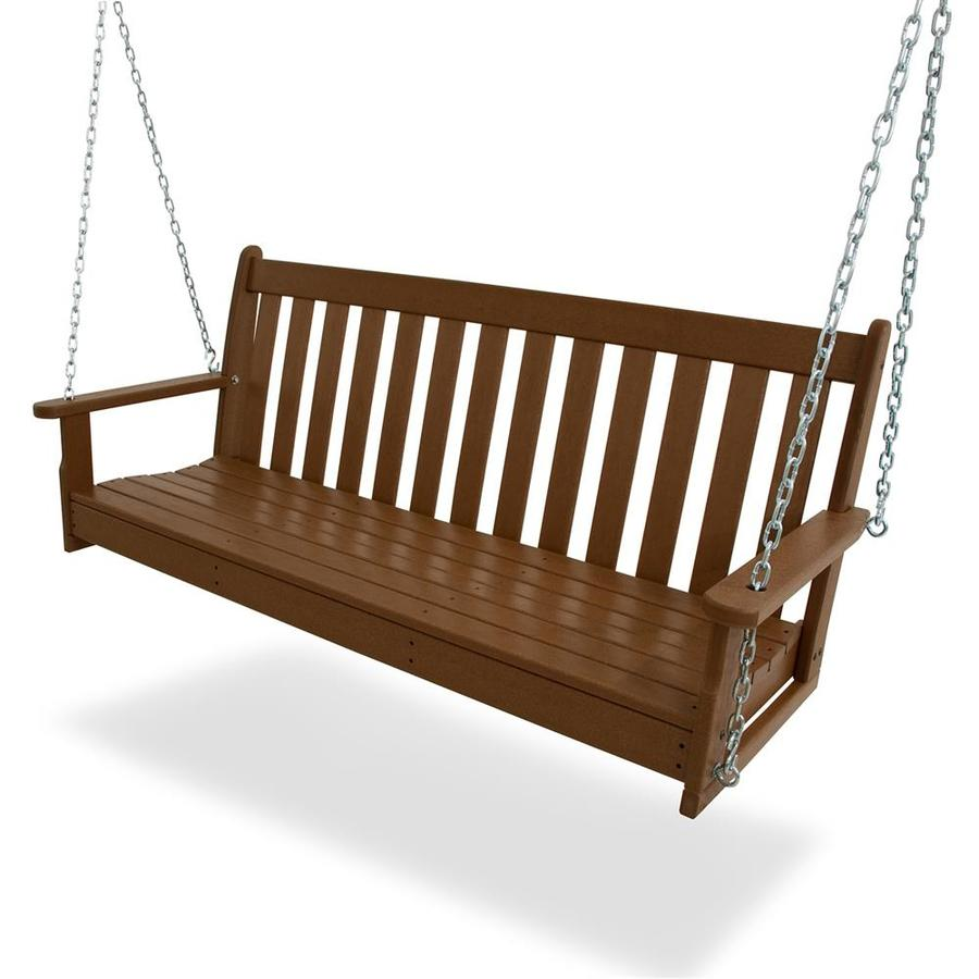 POLYWOOD Vineyard Teak Porch Swing