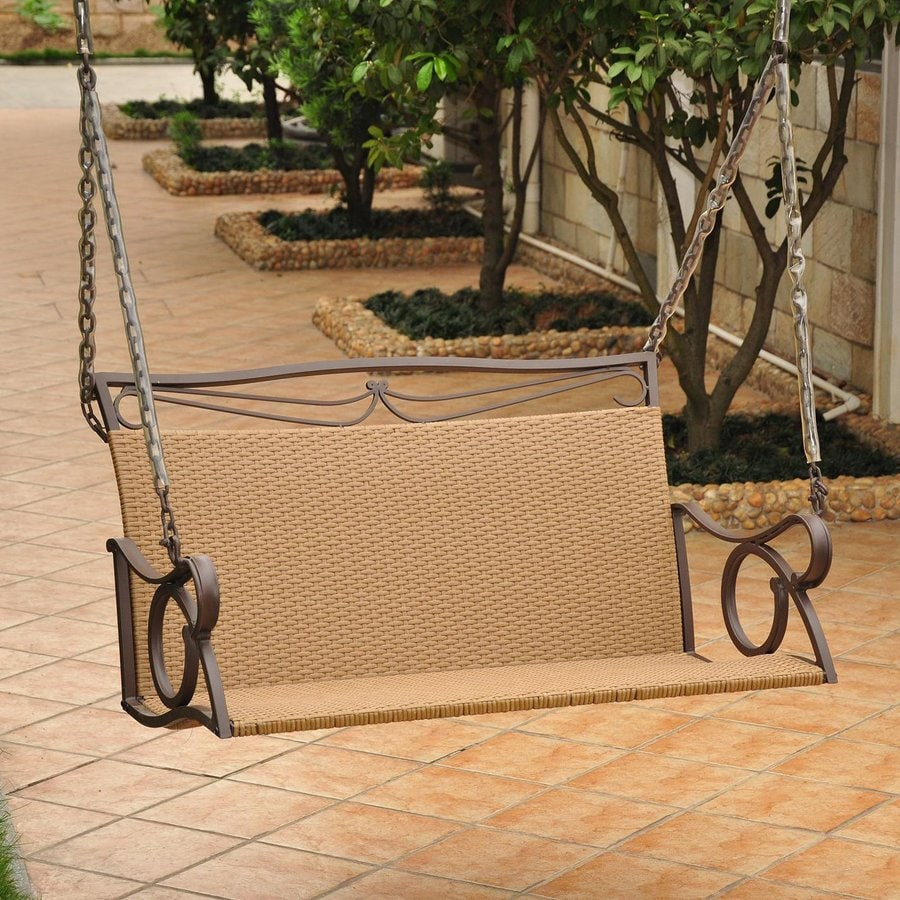 International Caravan Valencia Chocolate/Almond Porch Swing