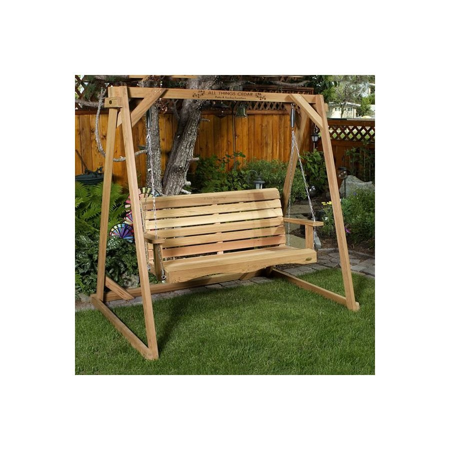 All Things Cedar All Things Cedar Wood Natural Unstained Free Standing Swing A-Frame