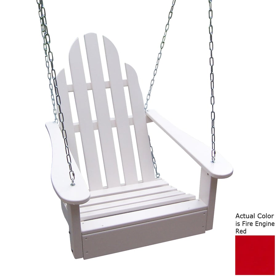 Prairie Leisure Design Fire Engine Red Porch Swing