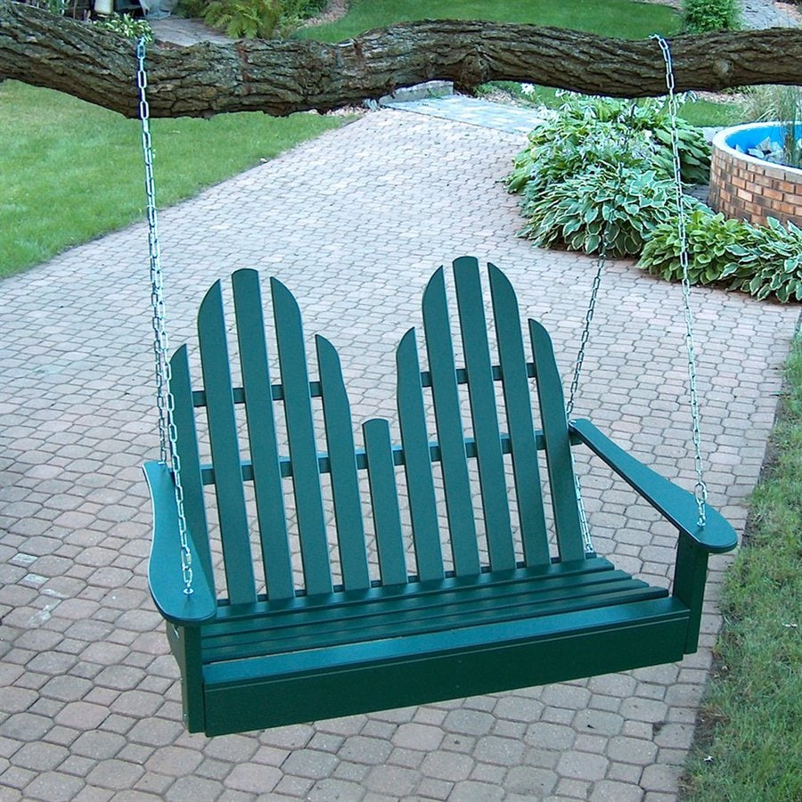 Prairie Leisure Design Hunter Green Porch Swing