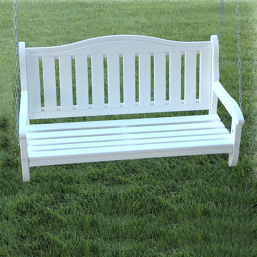 Prairie Leisure Design Satin White Porch Swing At Lowes Com