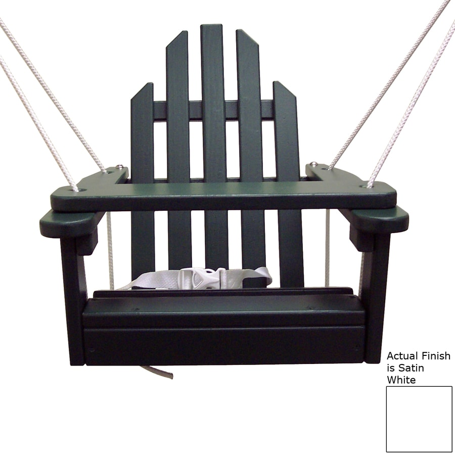 Prairie Leisure Design Satin White Porch Swing