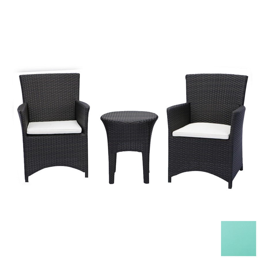 brown set patio source outdoor. Source Outdoor 3-Piece St. Tropez Brown Aluminum Patio Conversation Set With Solid Cushions