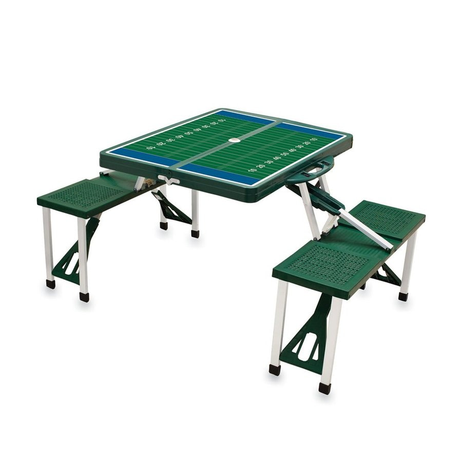 Picnic Time 34-in Green Plastic Rectangle Collapsible Picnic Table