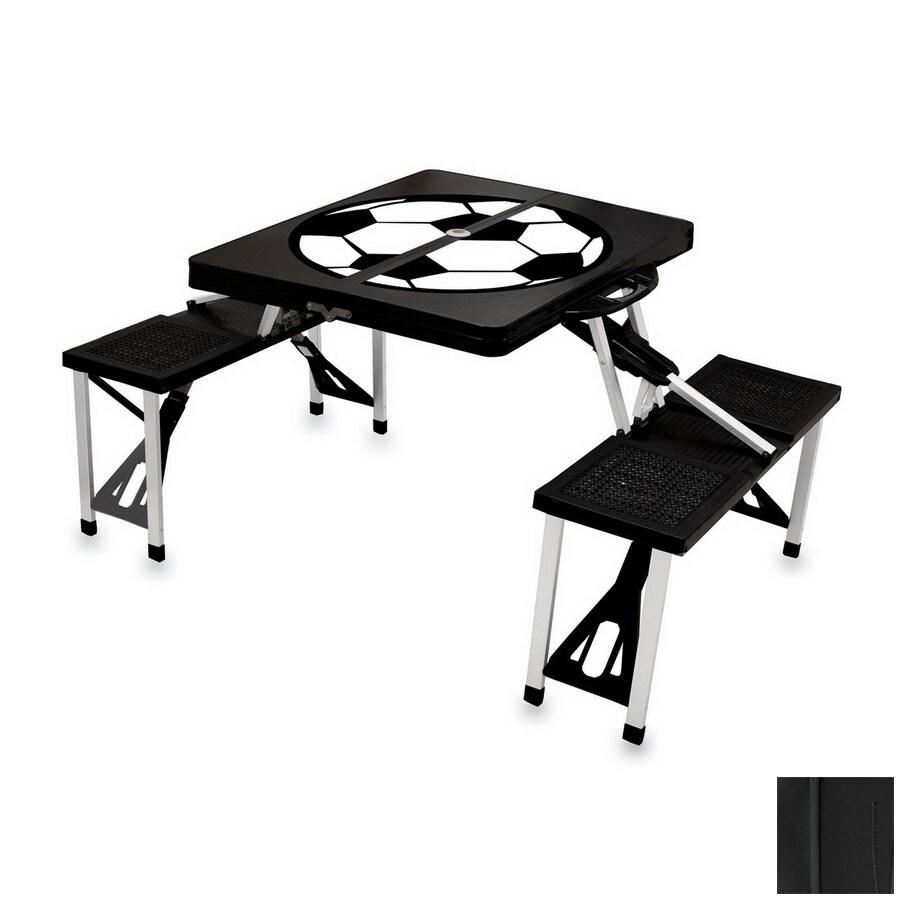 Shop picnic time black plastic rectangle folding picnic table with picnic time black plastic rectangle folding picnic table with benches watchthetrailerfo