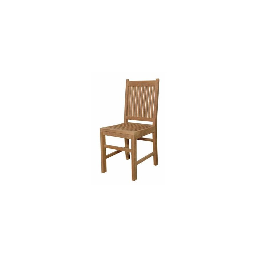 Anderson Teak Saratoga Natural Teak Patio Dining Chair
