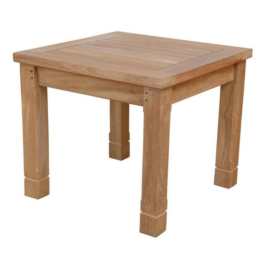 Anderson Teak Southbay 22-in W x 22-in L Square Teak End Table