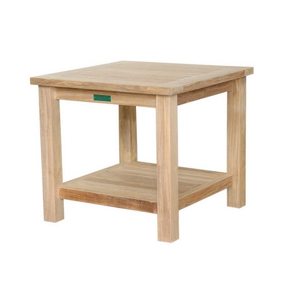 Anderson Teak 20-in W x 20-in L Square Teak End Table