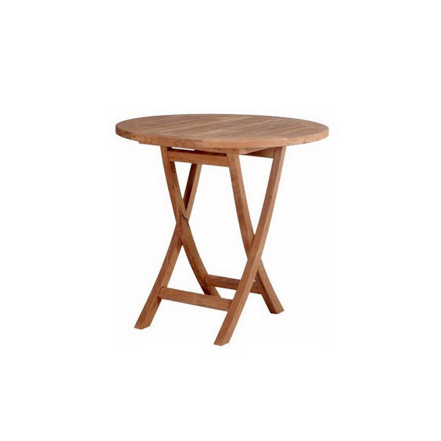 Anderson Teak Bahama 27-in W x 27-in L Round Teak Folding Bistro Table