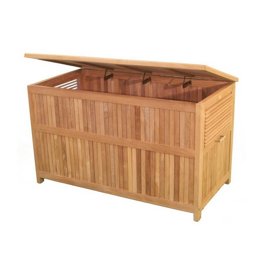 Jewels of Java 49-in L x 25.5-in W Wood Deck Box