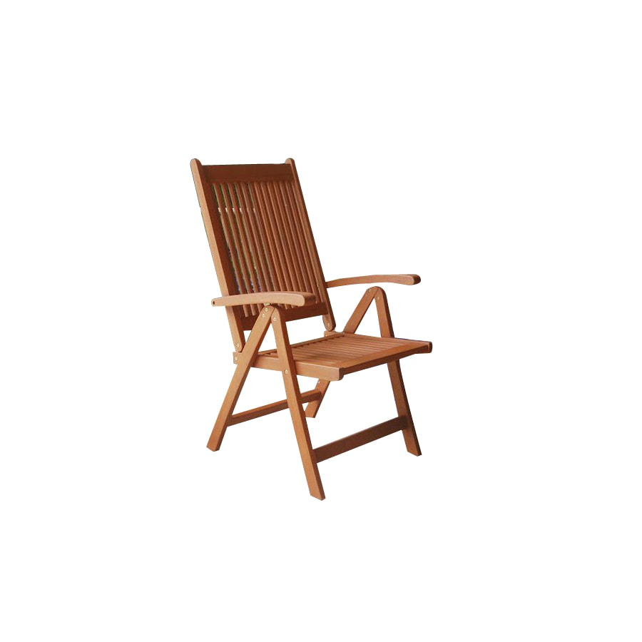 VIFAH Vista Wood Patio Dining Chair
