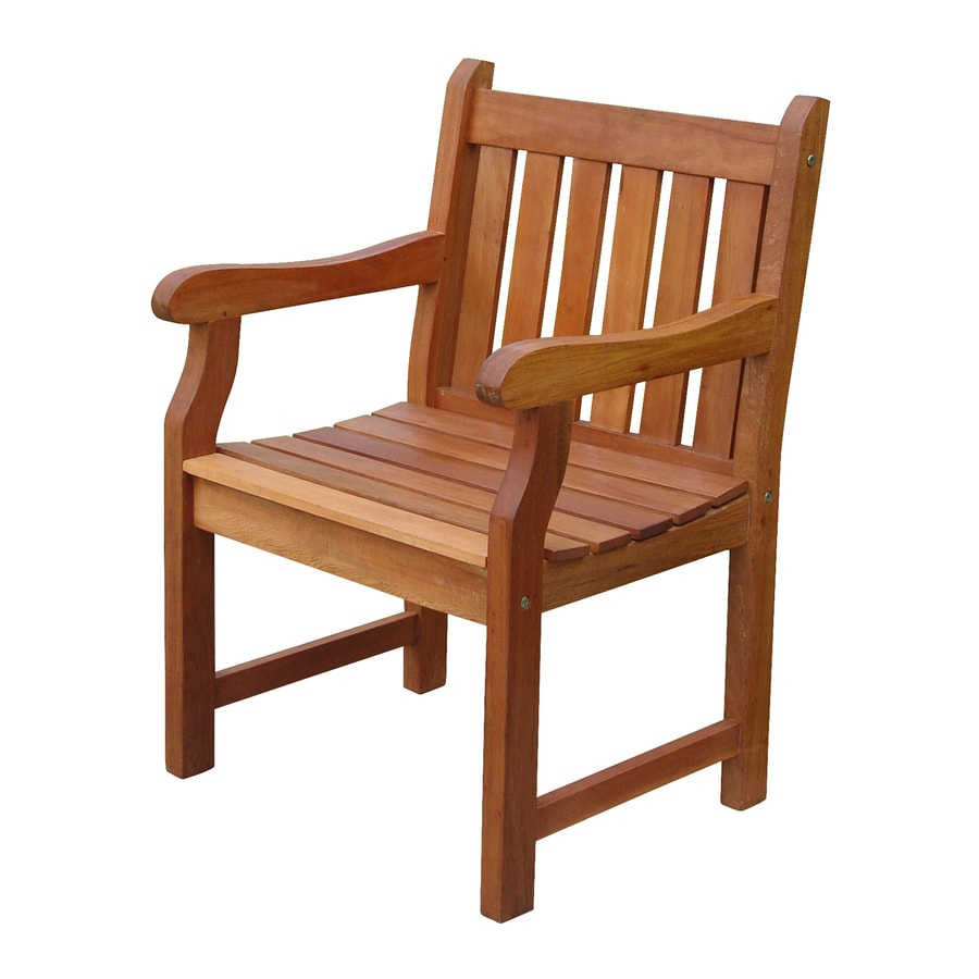 VIFAH Baltic Eucalyptus Patio Dining Chair