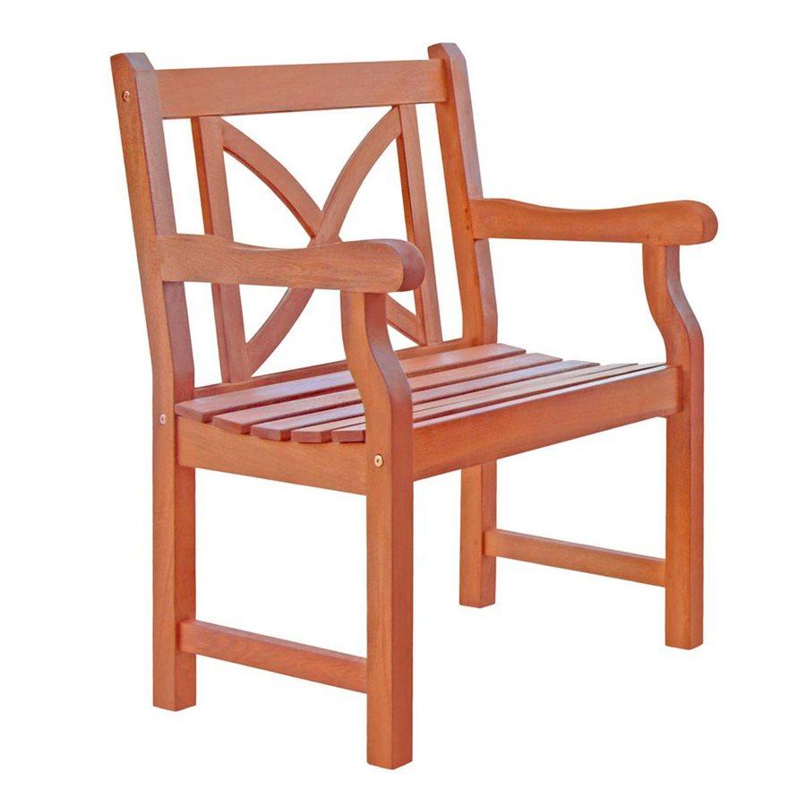 VIFAH Balthazar Eucalyptus Patio Dining Chair