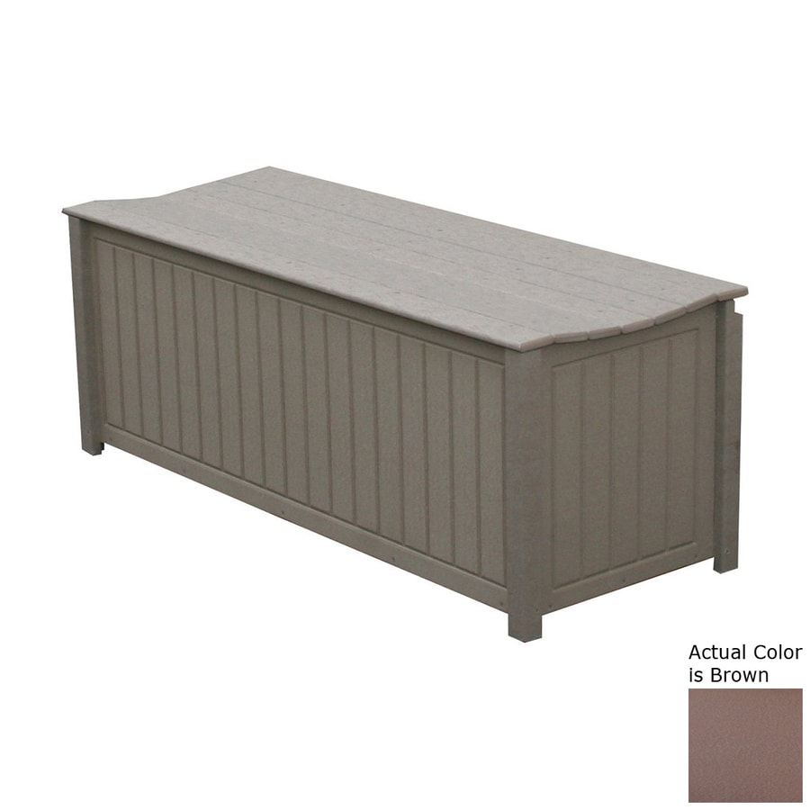 Eagle One Brisbane 48-in L x 19-in W 61-Gallon Brown HDPE Deck Box