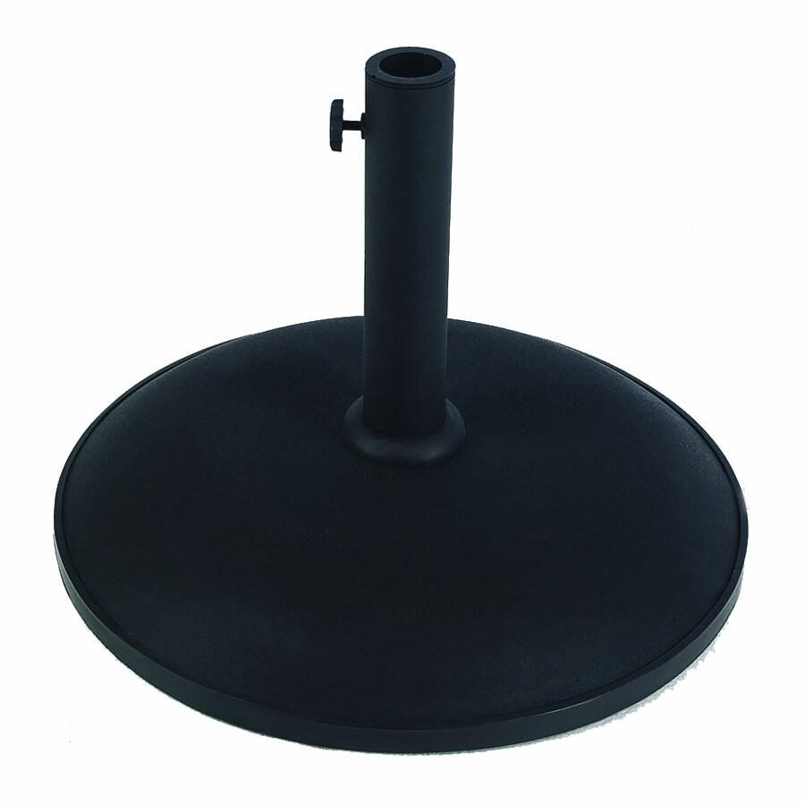 Shop fiberbuilt black patio umbrella base at lowescom for Patio umbrella base