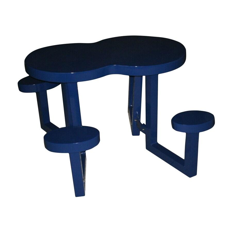 Shop Ofab Blue Cast Aluminum Picnic Table At Lowescom - Cast aluminum picnic table