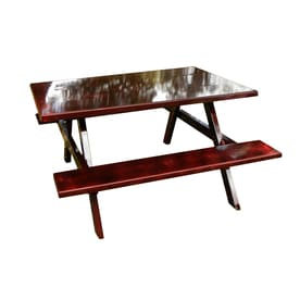 72 In Brown Southern Yellow Pine Rectangle Picnic Table