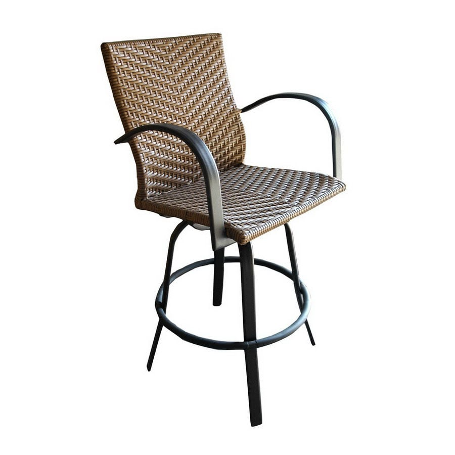 Shop Outdoor Greatroom Company Set Of 2 Naples Swivel Mesh