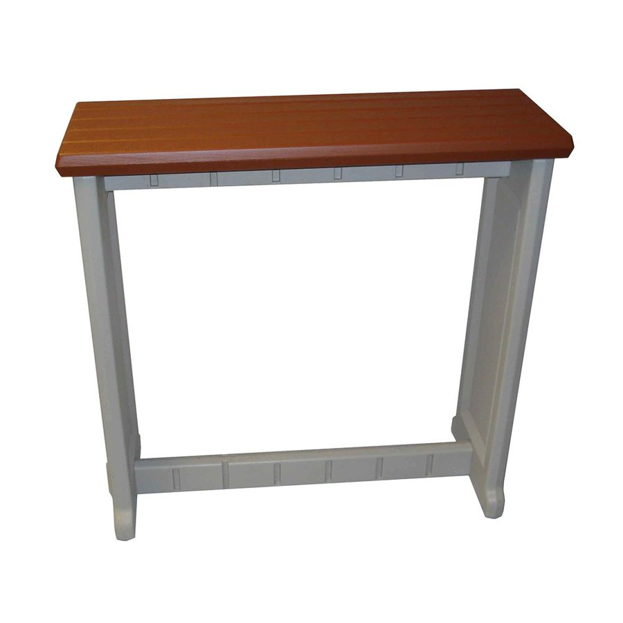 Confer Plastics Patio Essentials 12-in W x 36-in L Rectangle Plastic Bar Table