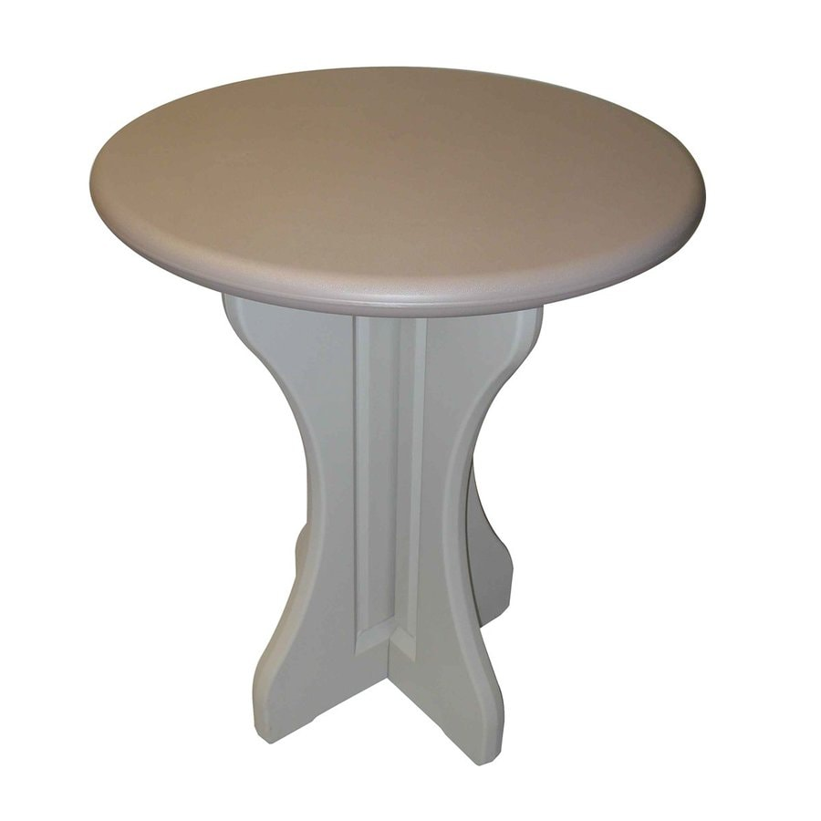 Confer Plastics Patio Essentials 30-in W x 30-in L Round Plastic Bistro Table
