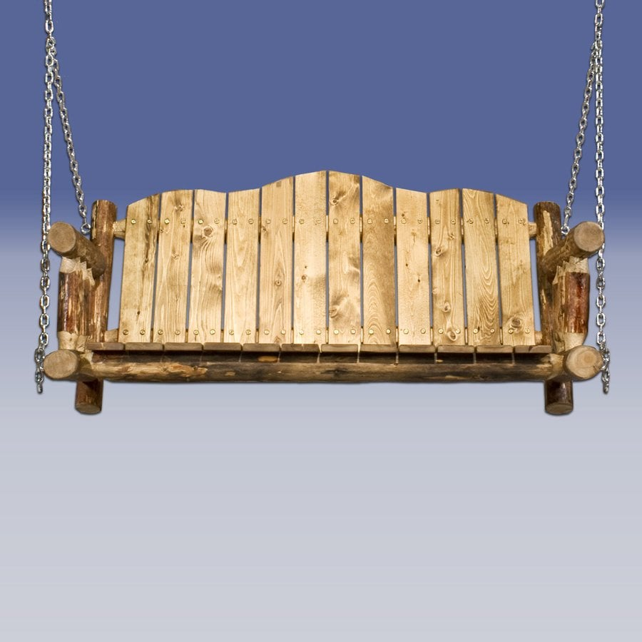 Montana Woodworks Glacier Country Puritan Pine Porch Swing