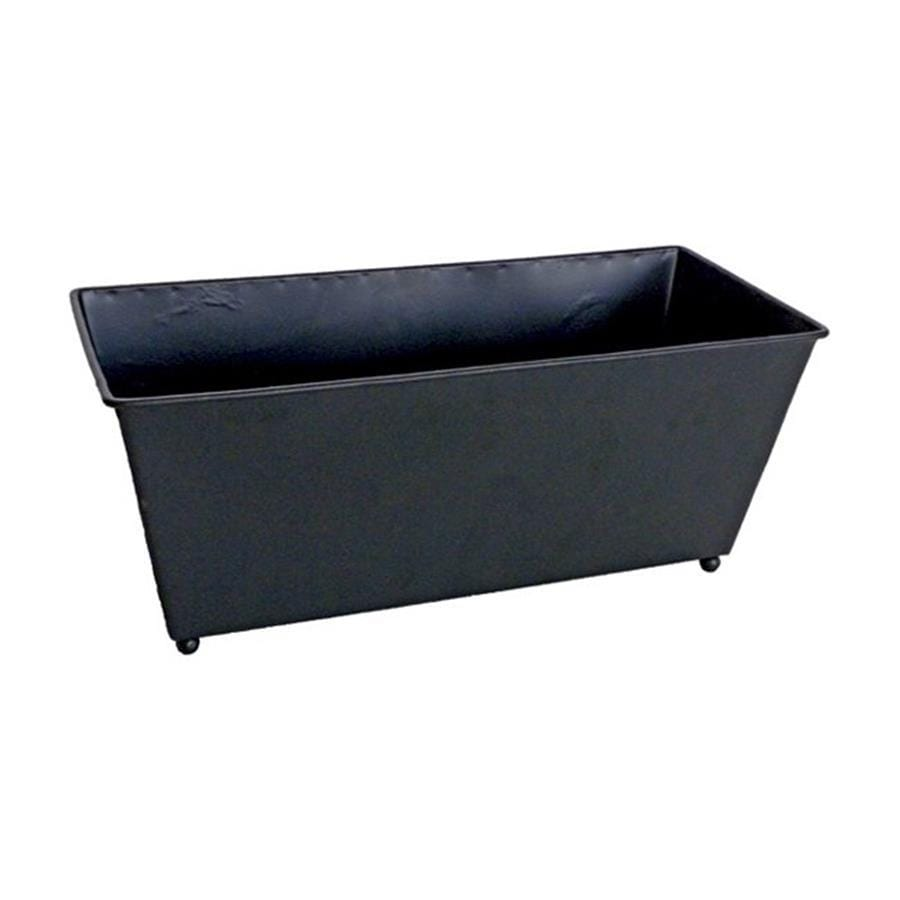 Cheung's 12-in x 5-in Black Metal Hammered Press Planter