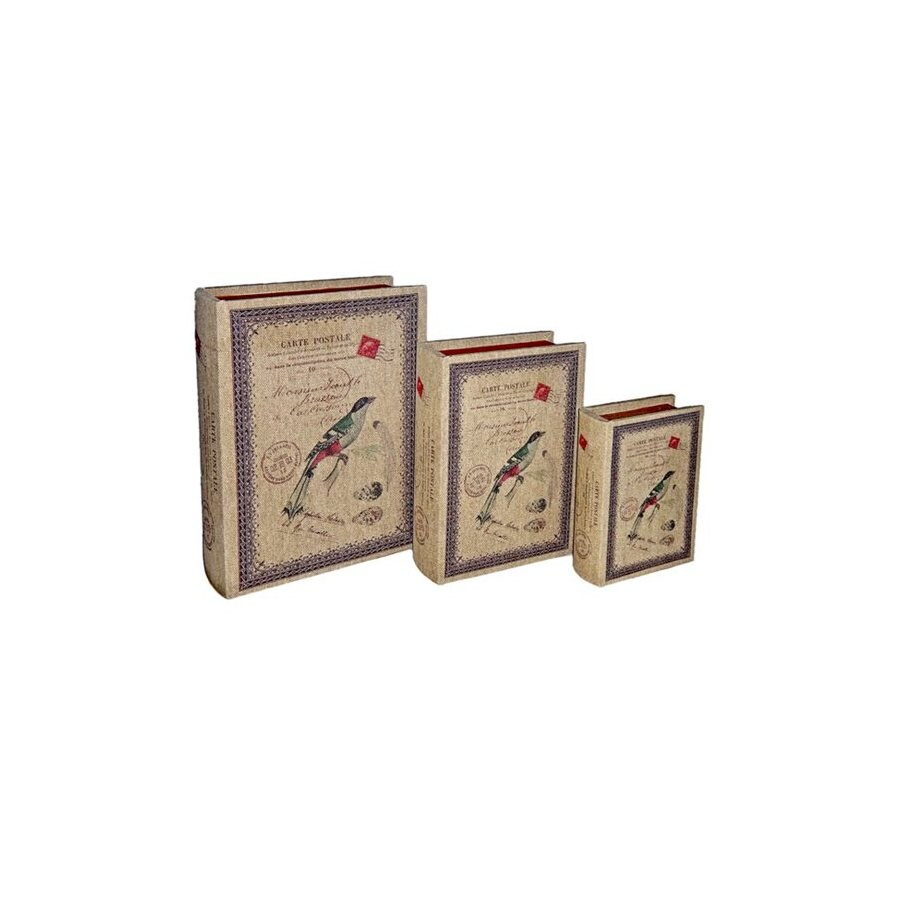 Decoration Carte Postale.Cheung S Set Of 3 Multicolor Rectangular Carte Postale Book