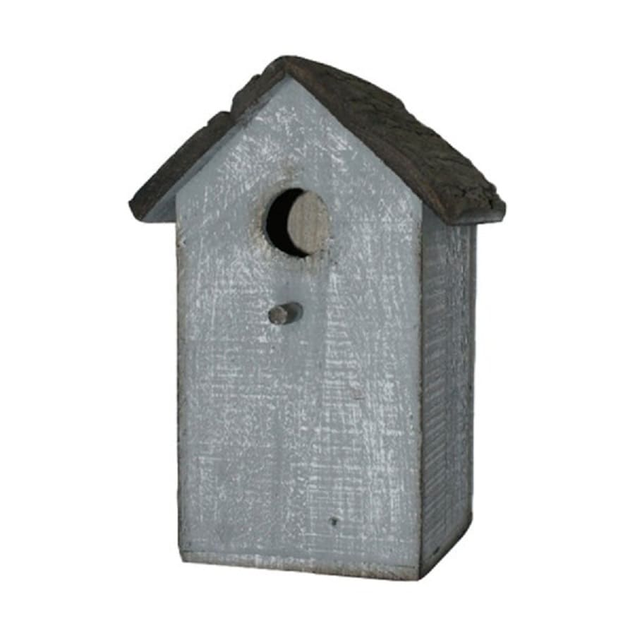 Cheung's 6.75-in W x 6.75-in H x 6.25-in D Shabby Distressed Blue Bird House