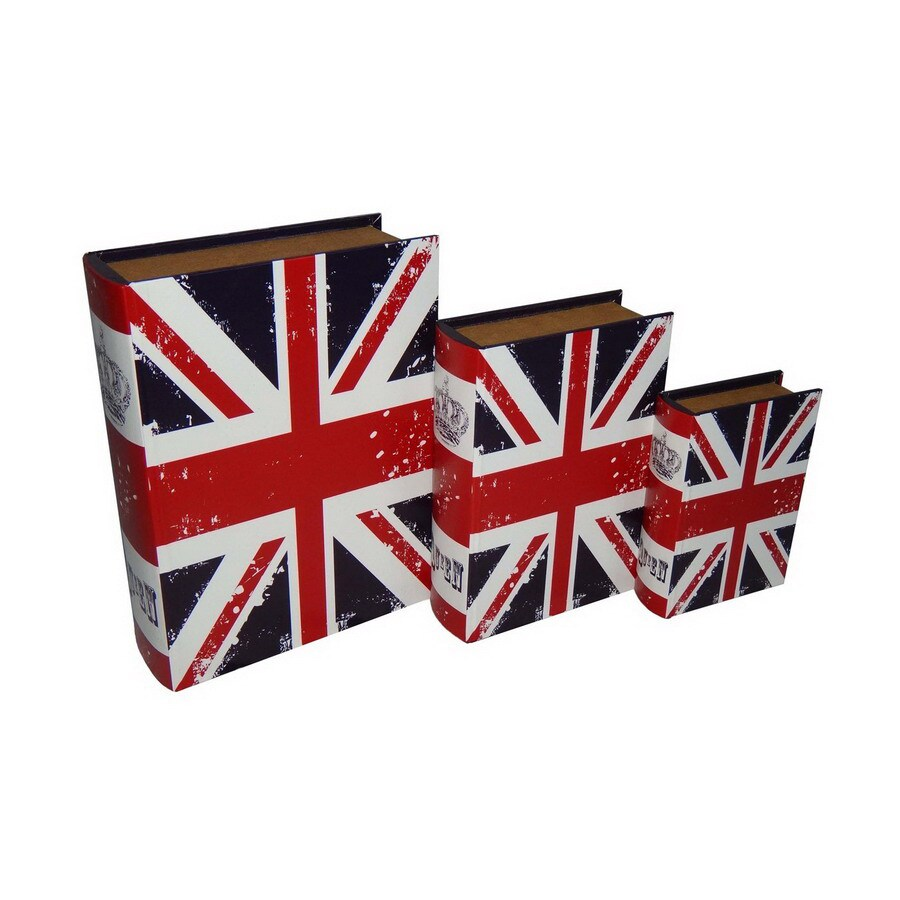 Cheung's Set of 3 Rectangular Book Boxes Vibrant Union Jack