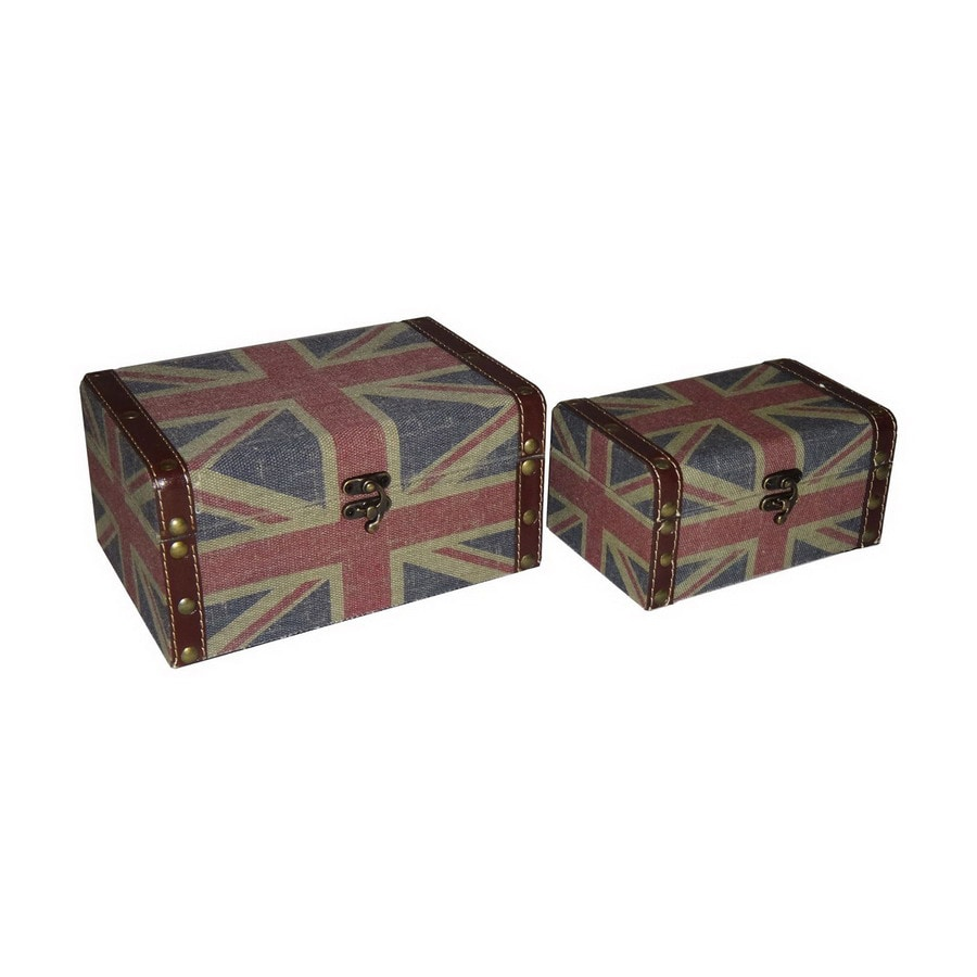Cheung's Set of 2 Rectangular Union Jack Keepsake Boxes