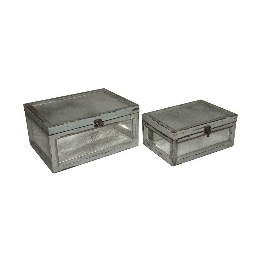 Cheung's Set of 2 Rectangular Dirty Mirror Keepsake Box