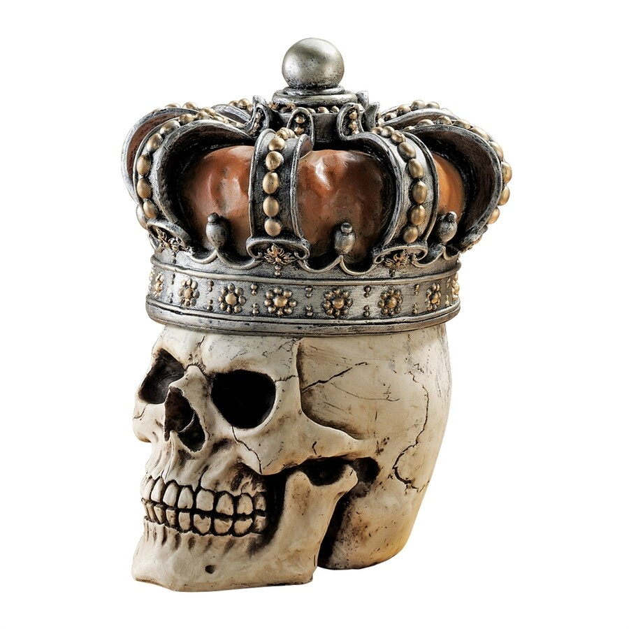 Design Toscano Crowned Skull Resin Gothic Relic Box