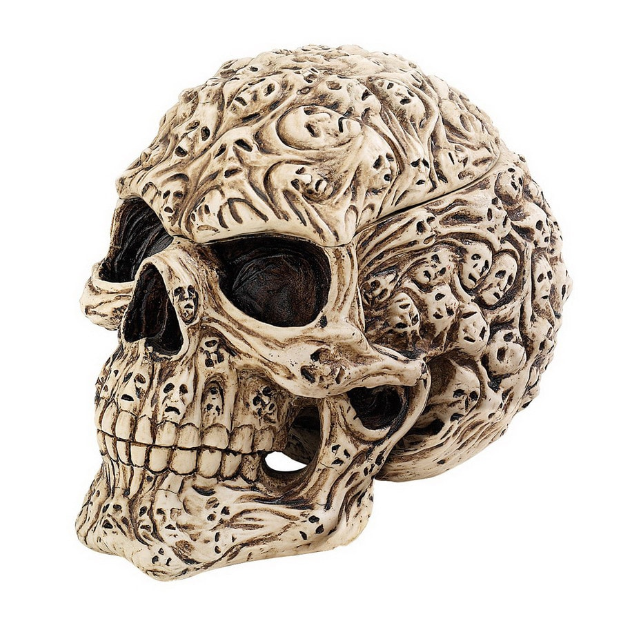 Design Toscano Rectangular Skulls Soul Spirit Sculptural Box