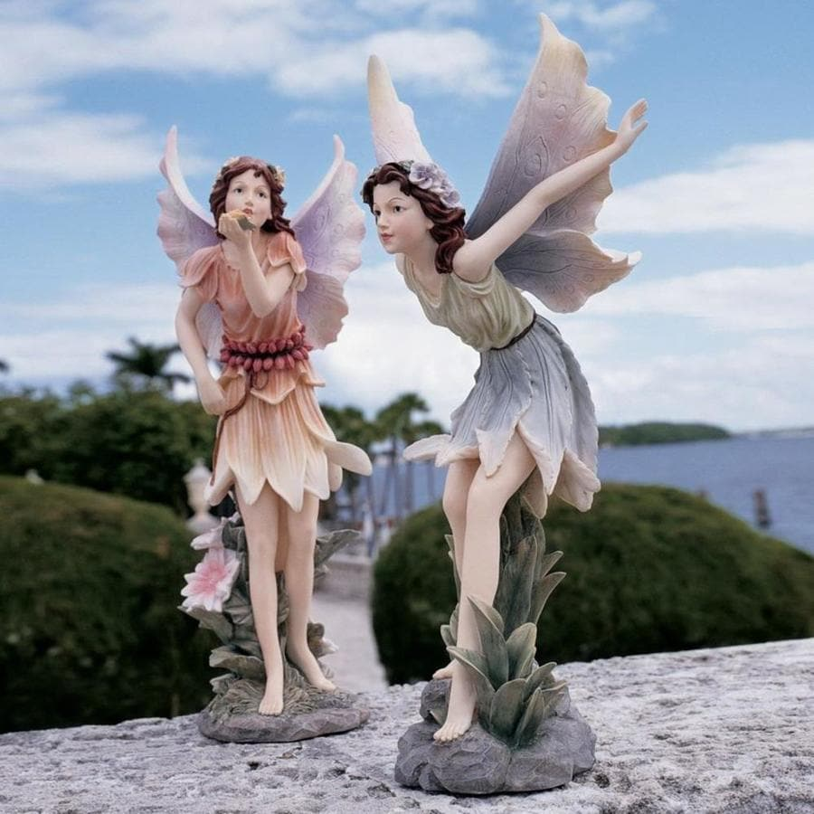 Design Toscano Set of 2 Fairies of Stratford Sculptures