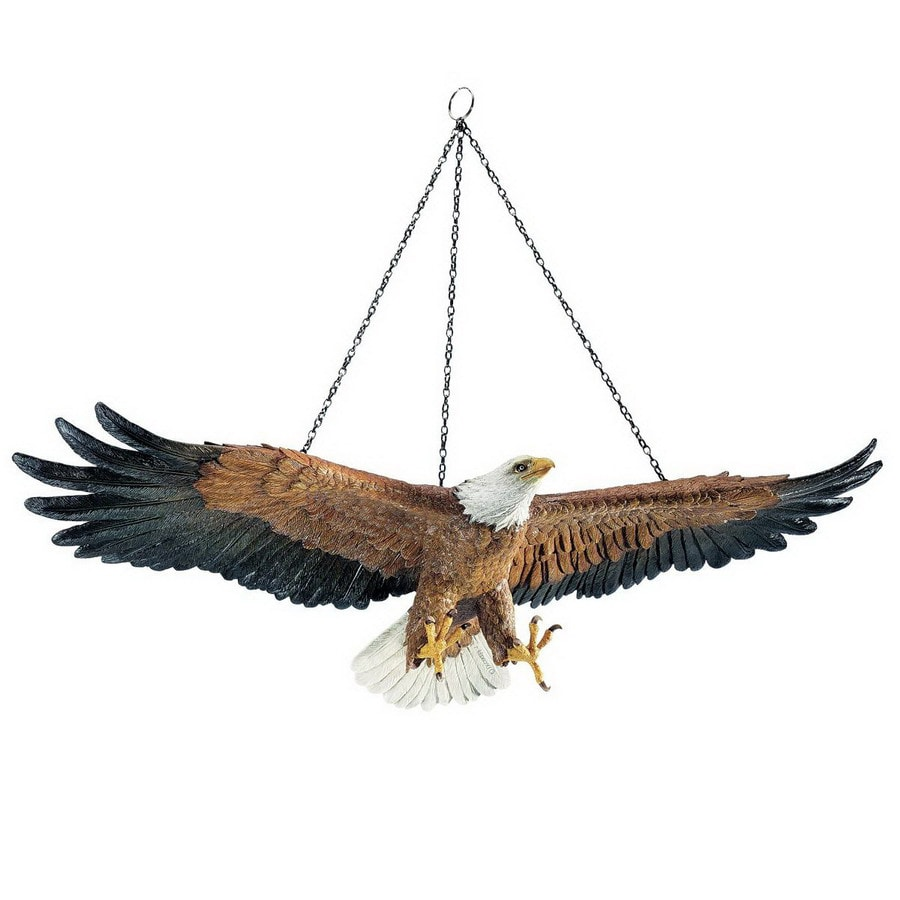 Design Toscano Rectangular Flight of Freedom Hanging Eagle Sculpture