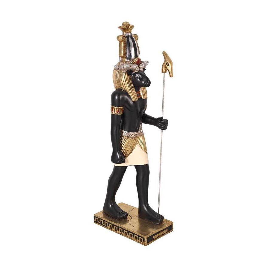 Design Toscano Rectangular the Egyptian God of the Nile Khnum Statue