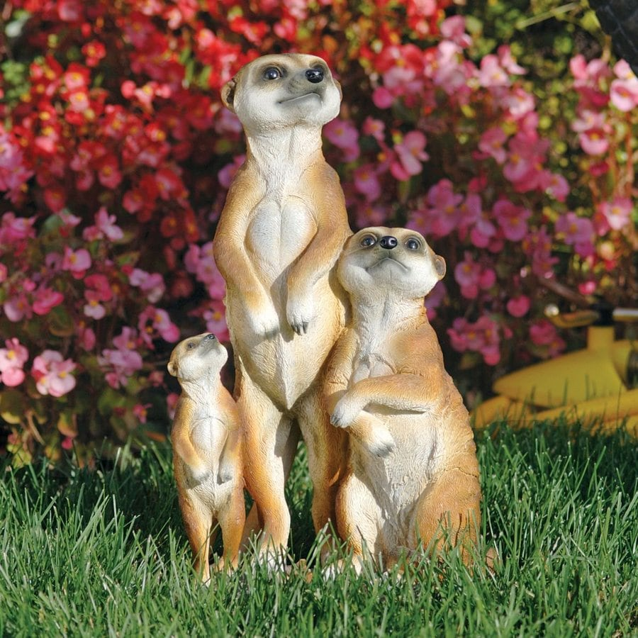 Design Toscano Meerkat Family 15-in Animal Garden Statue