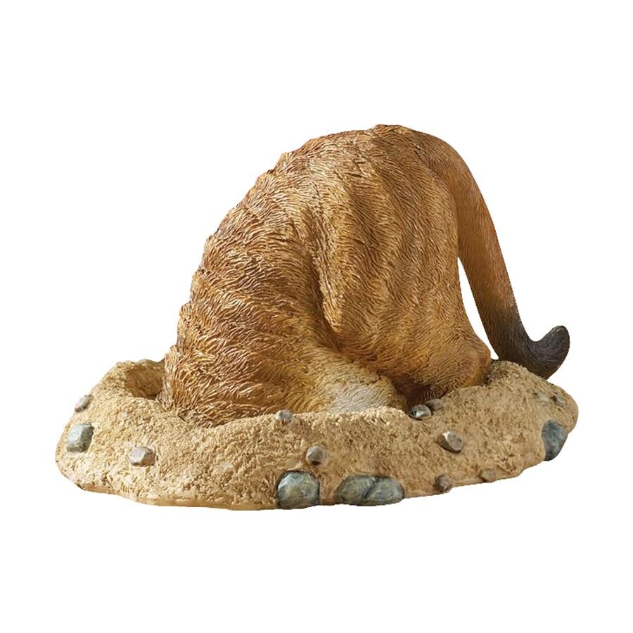 Design Toscano Kalahari Meerkat In Hole 6.5-in Animal Garden Statue