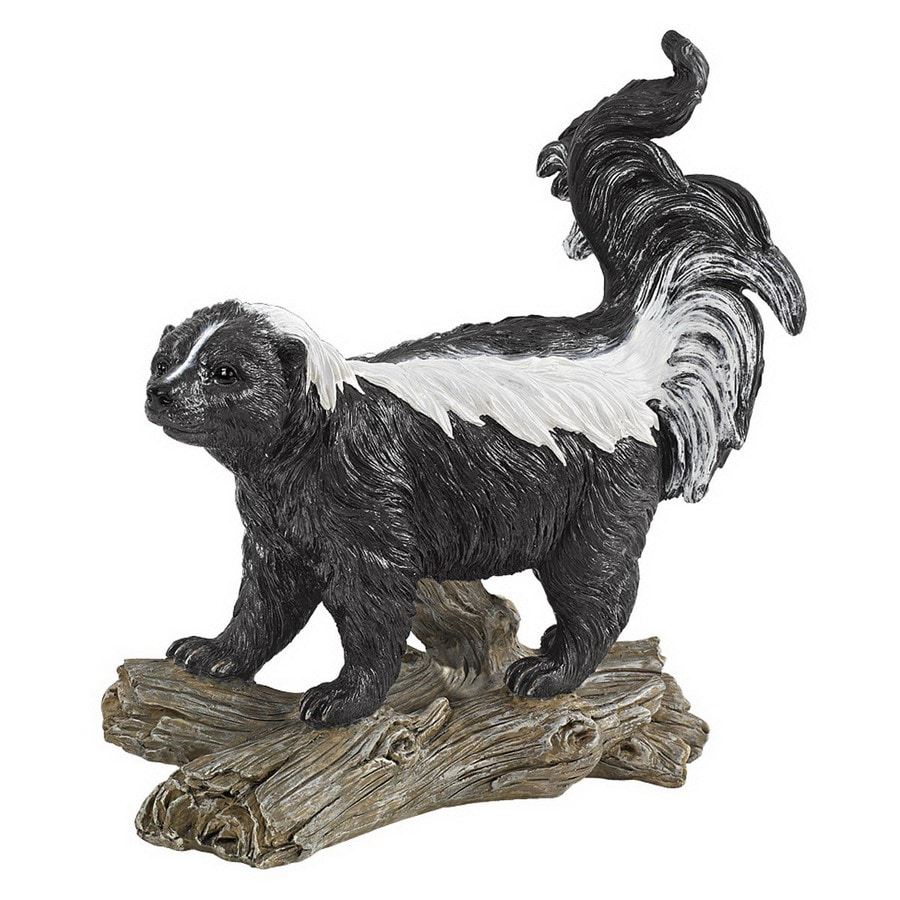 Design Toscano Rectangular Stinky the Striped Skunk Statue