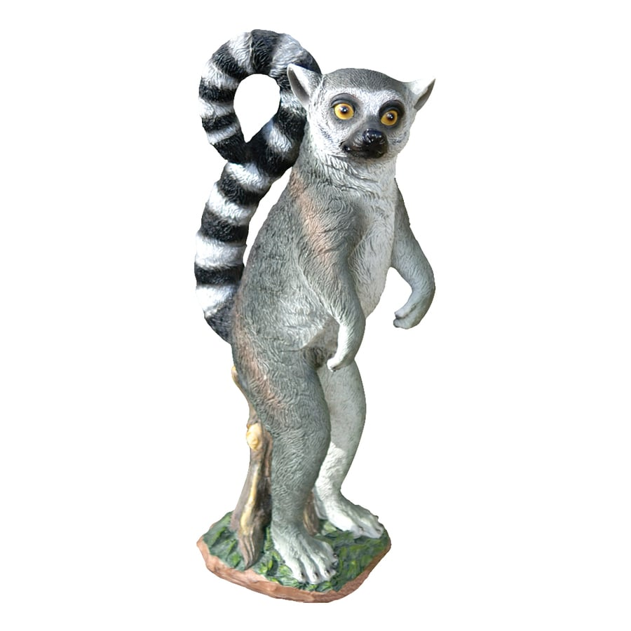 Design Toscano Rulon The Ring-Tailed Lemur 14.5-in Animal Garden Statue