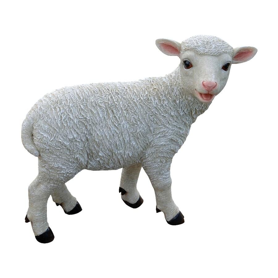 Design Toscano Yorkshire Standing Lamb 13-in Animal Garden Statue