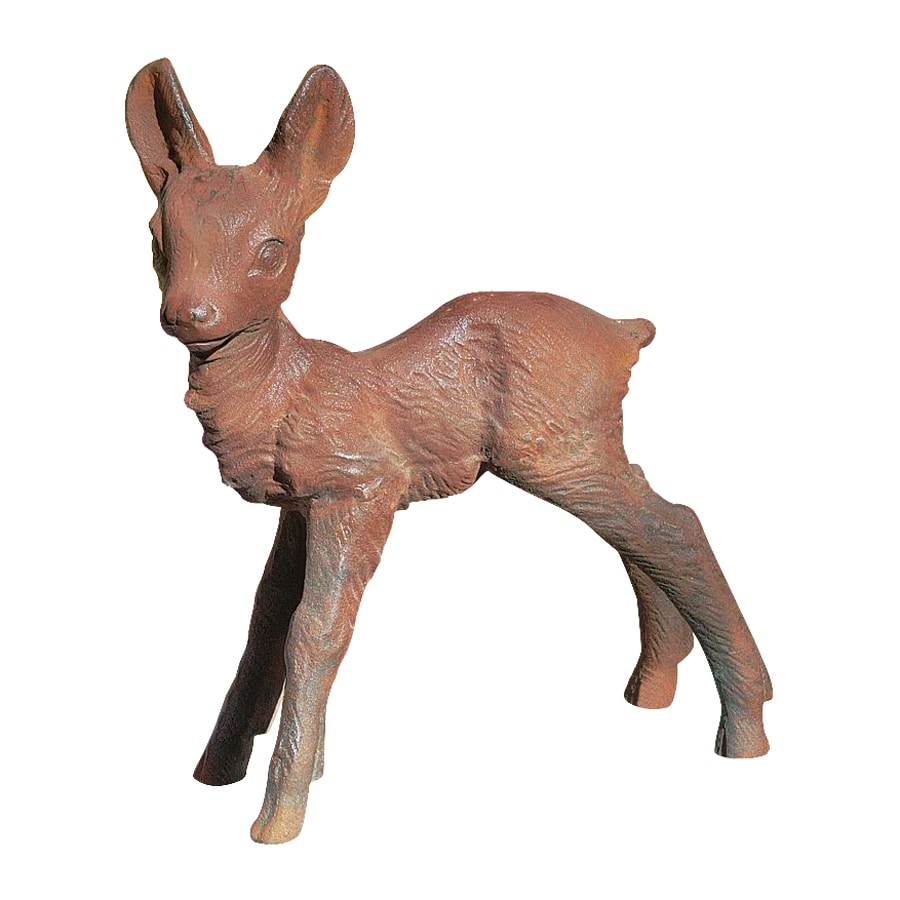 Design Toscano Deer Fawn Sculpture 15-in Animal Garden Statue
