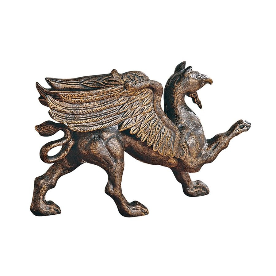 Design Toscano Antiqued Iron Growling Griffin Foundry Doorstop