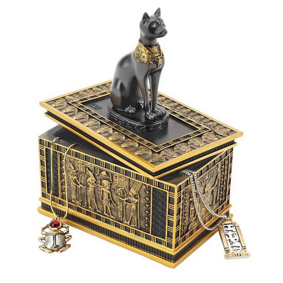 Design Toscano Rectangular Royal Bastet Egyptian Box