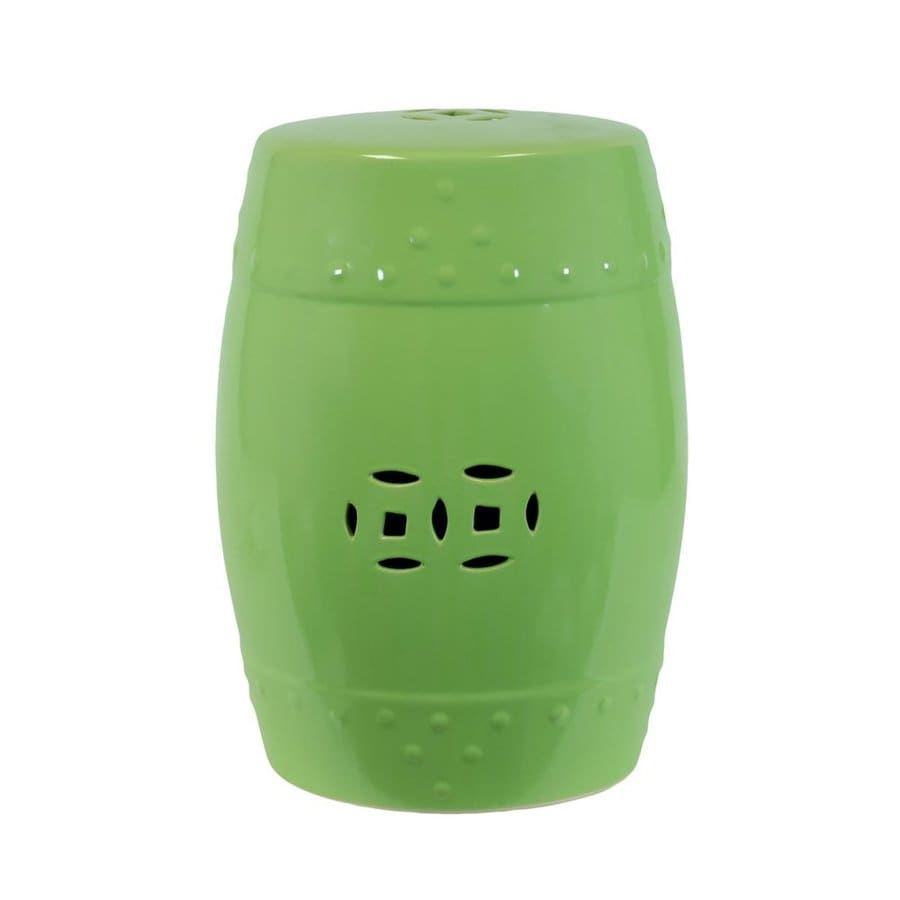 Superieur Urban Trends 18 In Lime Green Ceramic Round Double Coin Garden Stool